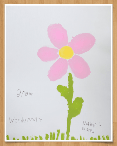 Flower Painting with Border